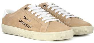 Saint Laurent Court Classic SL/06 suede sneakers