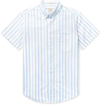 J.Crew Slim-Fit Button-Down Collar Striped Pima Cotton Oxford Shirt - Men - Blue