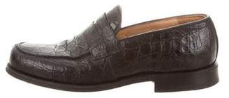 Church's Crocodile Round-Toe Loafers