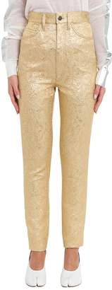 Maison Margiela Gold Jacquard Trousers