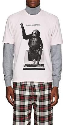 "Undercover Men's ""Order/Disorder"" Monkey-Computer Cotton T-Shirt - Pink"
