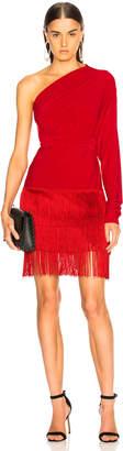Norma Kamali Fringe All In One Dress