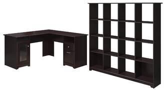 Hillsdale Red Barrel Studio 2-Piece L-Shape Desk Office Suite