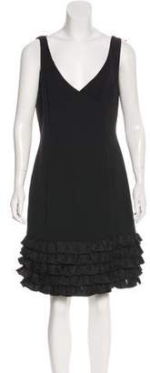 Armani Collezioni Silk Sleeveless Knee-Length Dress