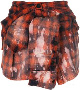 Faith Connexion plaid shirt effect mini skirt