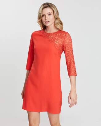 Dorothy Perkins Asymmetrical Lace Shift Dress