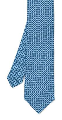 J.Mclaughlin Italian Silk Tie in Square Link