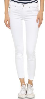 AG Raw Hem Legging Ankle Jeans $188 thestylecure.com