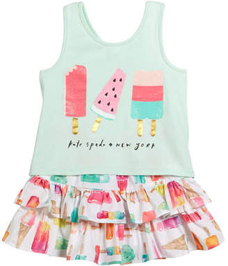 Kate Spade Summer Treat Tank & Skirt Set, Size 2-6x