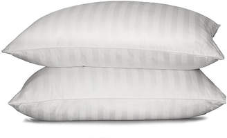 Asstd National Brand 350tc Damask Stripe White Down Pillow