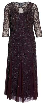Pisarro Nights Sequin Mesh Gown with Jacket