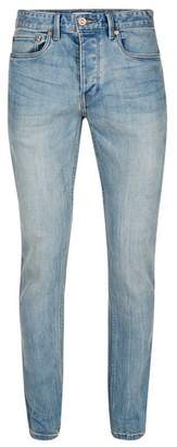 Topman Mens Light Blue Wash Stretch Slim Jeans