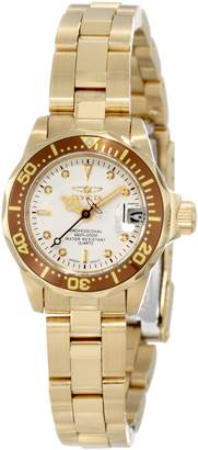 Invicta Women's 11444 Pro Diver Mini White Dial 18k Ion-Plated Stainless Steel Watch