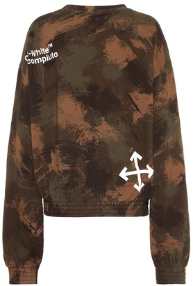 Off-White Off White Printed cotton sweatshirt