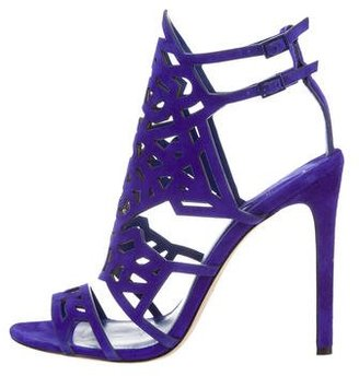 B Brian Atwood Suede Cage Sandals $145 thestylecure.com