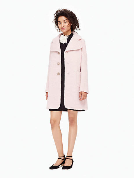 Jewel button wool coat