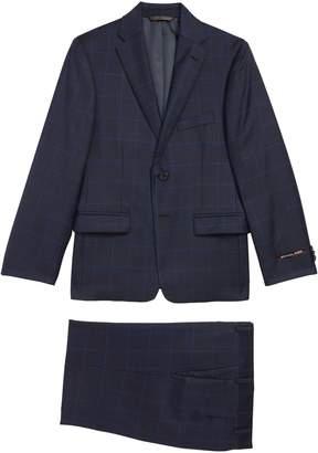Michael Kors Two-Piece Plaid Wool Suit