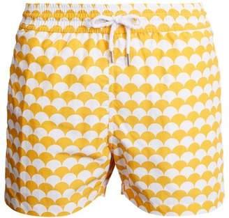 Frescobol Carioca - Sports Noronha Print Swim Shorts - Mens - Yellow