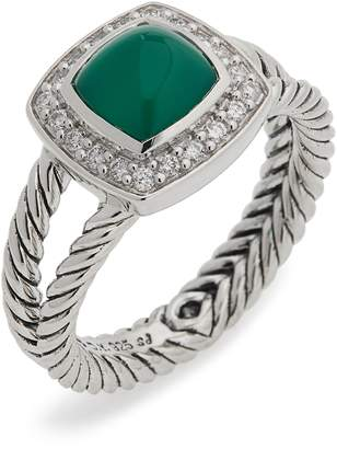 David Yurman Petite Albion Ring with Semiprecious Stone & Diamonds