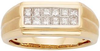 MODERN BRIDE Mens 1/2 CT. T.W. Certified Diamond 14K Yellow Gold Wedding Band