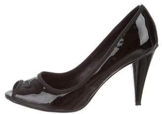 Donald J Pliner Patent Leather Peep-Toe Pumps