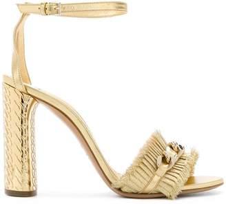 Casadei Evening chain trim sandals