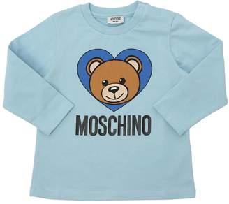 Moschino Toy Logo Printed Cotton Jersey T-Shirt