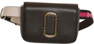 Marc Jacobs Logo Strap Hip Shot Bag In Black