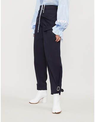 J.W.Anderson Pocket-panel straight-leg wool trousers