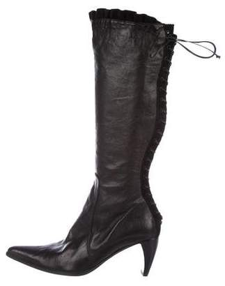 Henry Beguelin Leather Knee-High Boots w/ Tags
