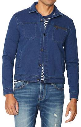 John Varvatos Men's Redrock Acid-Wash Stretch-Cotton Sweatshirt Jacket