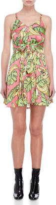 Love Moschino Printed Flounce Dress