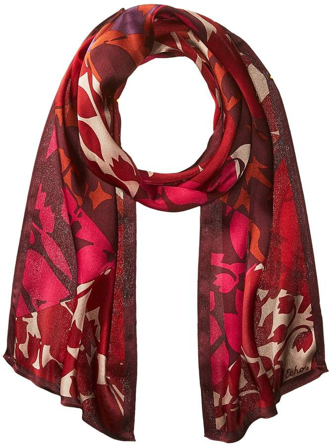 Echo Design - Geo Trellis Silk Oblong Scarf Scarves