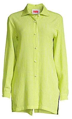 Solid and Striped Women's Neon Gingham Coverup