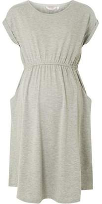 Dorothy Perkins Womens **Maternity Grey Pocket T-Shirt Dress
