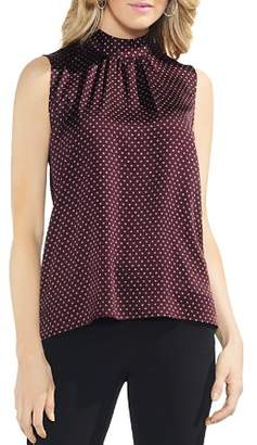 Vince Camuto Sleeveless Printed Mock-Neck Top