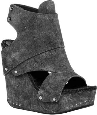 Max Studio flaunt : distressed suede wedge booties