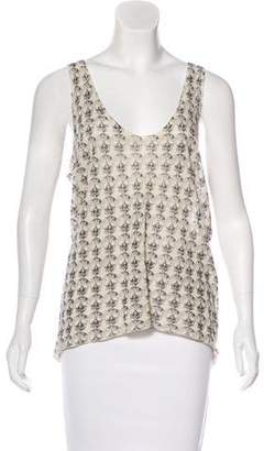 Zadig & Voltaire Skull Print Knit Top