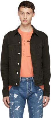 Acne Studios Bla Konst Green Pass Slim Denim Jacket
