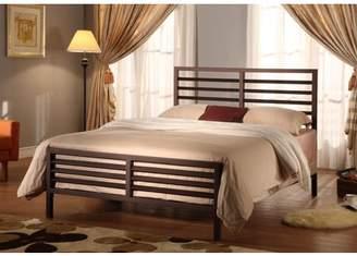 Rails Pilaster Designs Oakland Twin Size Bronze Modern Metal Slat Bed Frame (Headboard Footboard & Slats)