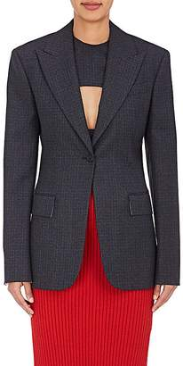 CALVIN KLEIN 205W39NYC Women's Checked Wool One-Button Jacket