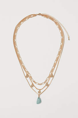 H&M Triple-strand Necklace - Green
