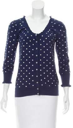Marc by Marc Jacobs Polka Dot Knit Cardigan