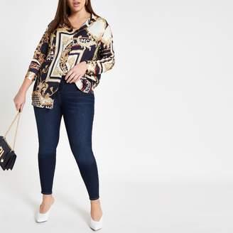 River Island Womens Plus Blue Kaia high rise disco jeans