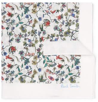 Paul Smith Floral-Print Cotton-Voile Pocket Square