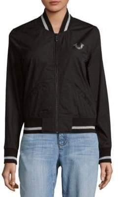 True Religion Floral Cotton Bomber Jacket