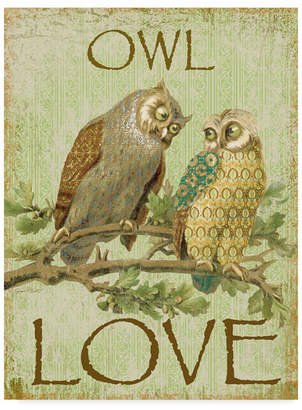 "Jean Plout 'Owl Love' Canvas Art - 14"" x 19"""