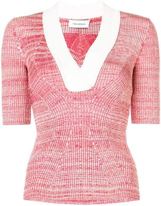 Yigal Azrouel melange knit top