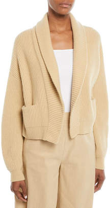 Vince Cropped Shawl-Collar Cardigan