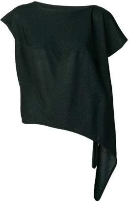 Vivienne Westwood Anglomania lamé asymmetric top